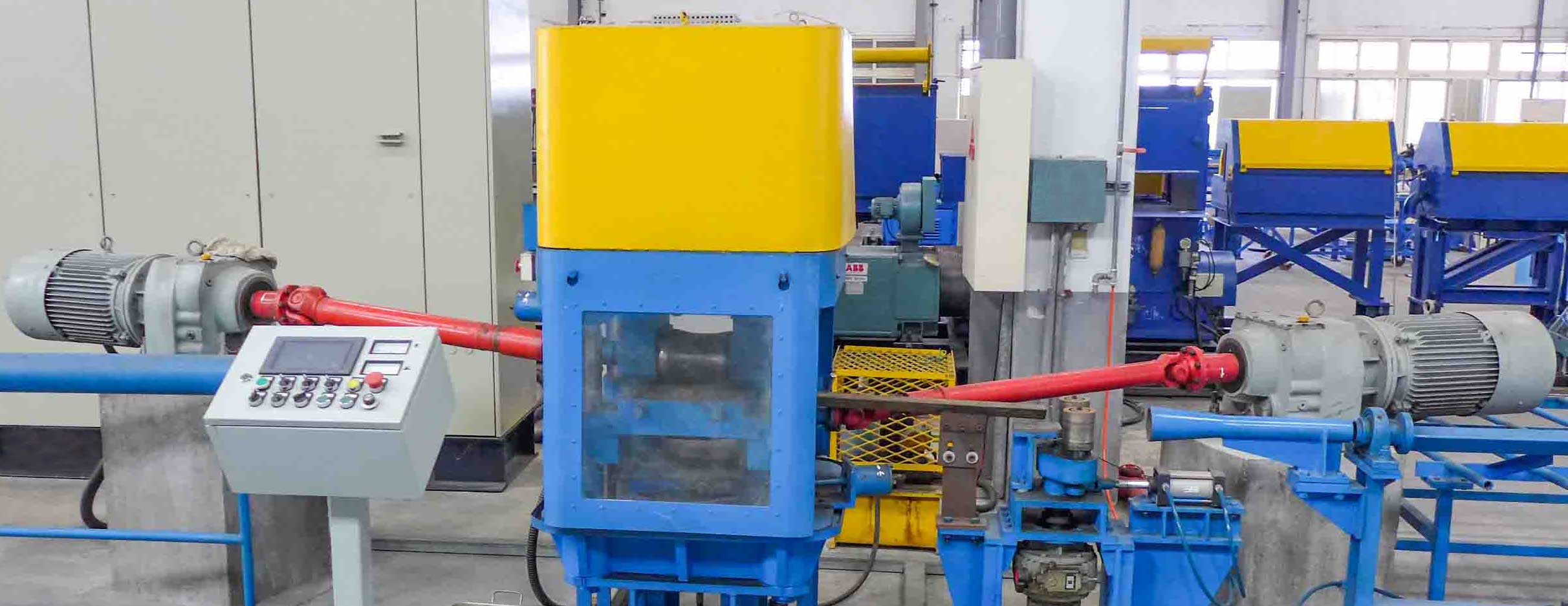 Two roll type hot straightening machine for special alloy bar,鋼棒兩輥矯直機