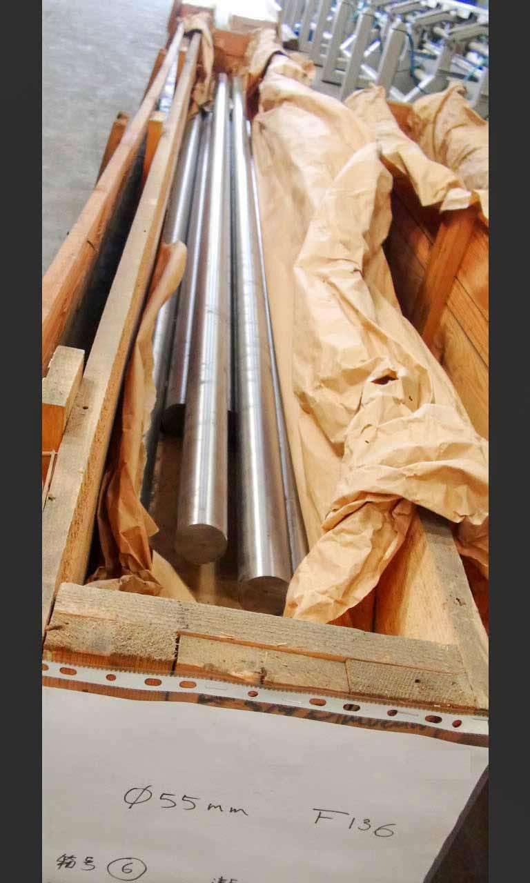 """dia. 55mm/21.654""""-鈦合金棒 Ti6Al4V-ELI, F136, titanium bar"""